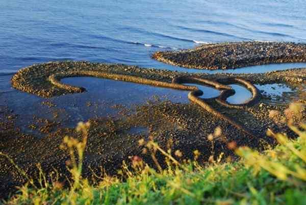 Камни, сложенные в двойное сердце - рыбацкая ловушка, пример местных рыбацких приемов. (Courtesy of Taiwan Tourism)