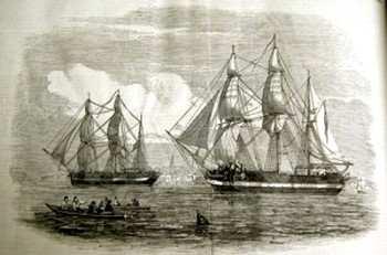 Корабли «Эребус» и «Террор». Изображение из Illustrated London News