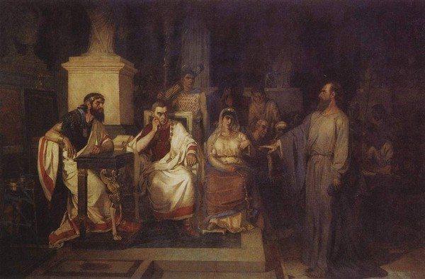 «Апостол Павел объясняет догматы веры в присутствии царя Агриппы, сестры его Береники и проконсула Феста»