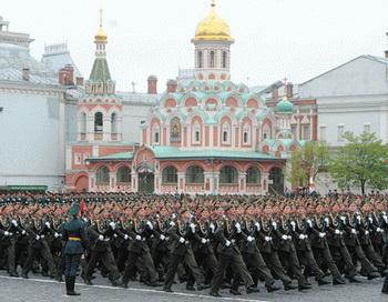 Военный парад, посвященный Дню Победы. Фото РИА Новости