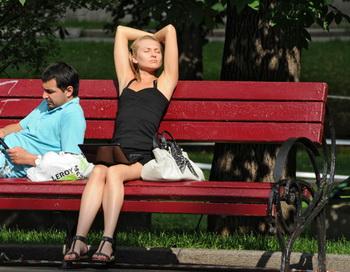 Летний отдых горожан. Фото РИА Новости