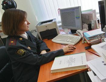 Работа сотрудников МВД. Фото РИА Новости