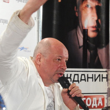 Продюсер Андрей Васильев на пресс-конференции, посвященной премьере фильма «Гражданин поэт. Прогон года». Фото РИА Новости