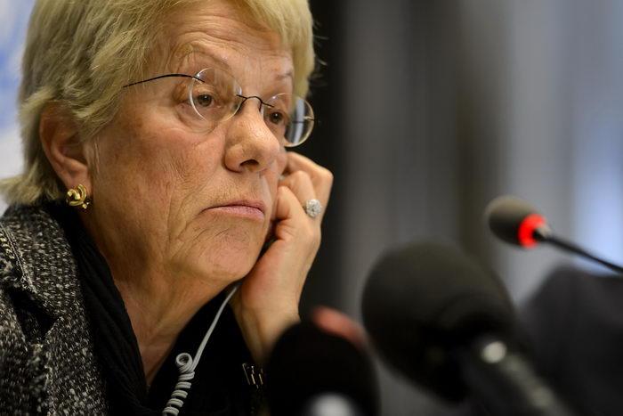 Главный прокурор МУС Карла дель Понте. Фото: FABRICE COFFRINI/AFP/Getty Images