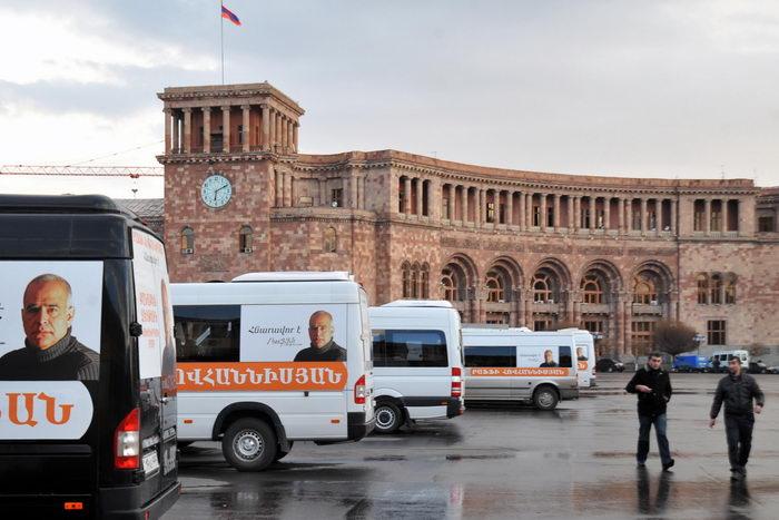 В Армении наступил «День тишины». Фото: KAREN MINASYAN/AFP/Getty Images
