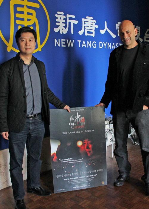 Продюсер Кеан Вонг (слева) и режиссёр Майкл Перлман (справа) дали The Epoch Times эксклюзивное интервью, Сан-Франциско, 25 января 2013 года. Фото: Catherine Yang/The Epoch Times