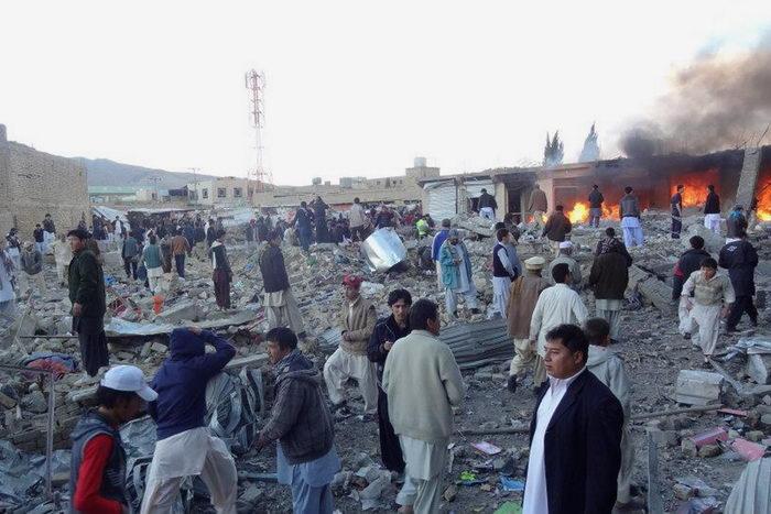 Жертвами теракта в Пакистане стали около 80 человек. Фото: STR/AFP/Getty Images