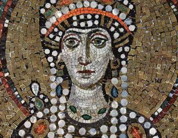 Императрица Феодора, середина VI века н.э. Мозаика  в церкви Сан-Витале, Ровенна, Италия. Фото: Liveinternet.ru
