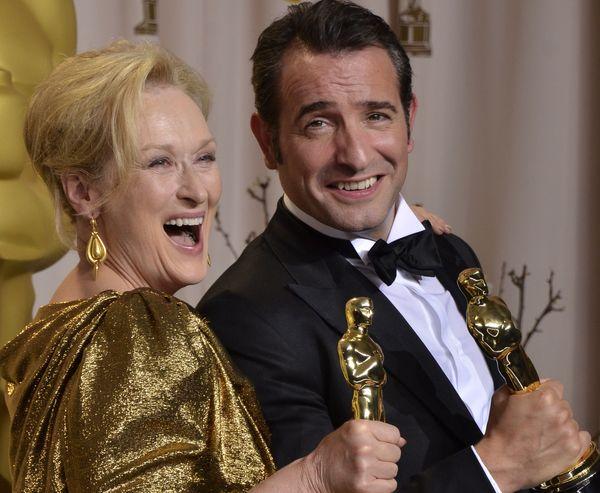 Мэрил Стрип. Мэрил Стрип и Жан Джюжарден на 84-й церемонии вручения призов Киноакадемии США. Фото: JOE KLAMAR/AFP/Getty Images