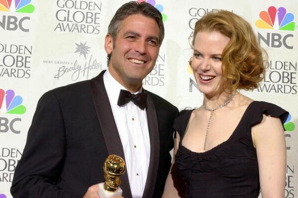 Николь Кидман – первая леди Австралии в Голливуде. Джордж Клуни и Николь Кидман на церемонии вручения призов «Золотой глобус». 2001 год. Фото: LUCY NICHOLSON/AFP/Getty Images