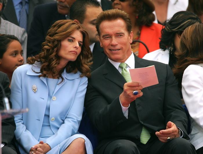 Арнольд Шварценеггер с супругой Марией Шрайвер. 2005 год. Фото: David McNew/Getty Images