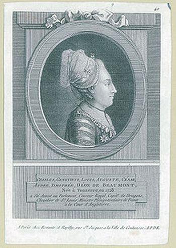 Мадемуазель де Бомон (в женском платье). Фото: ru.wikipedia.org