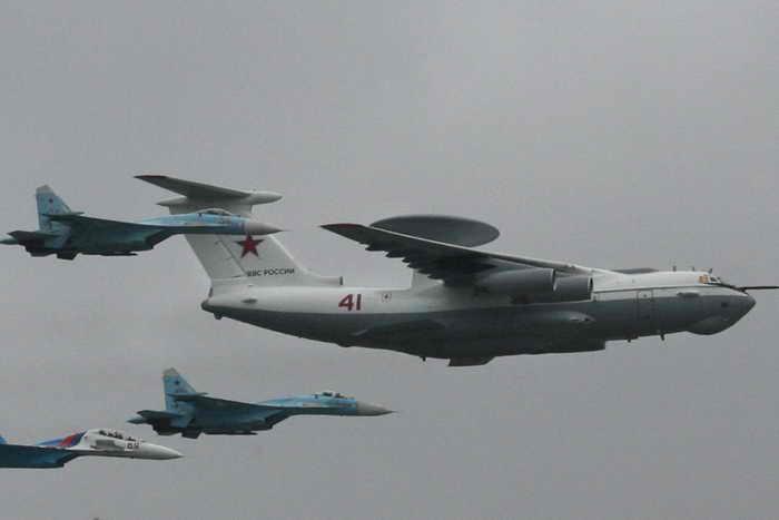 Самолёт дальнего радиолакационного обнаружения А-50. Фото: Alexey SAZONOV/AFP/Getty Images
