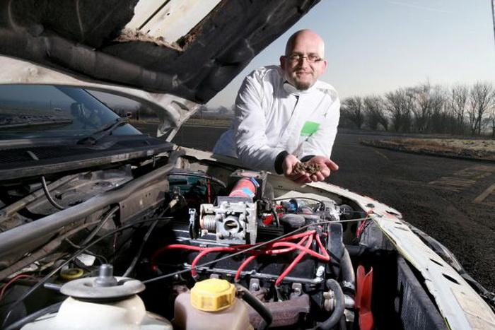 Мартин Бэкон и его «кофейный» автомобиль — топливо всегда под рукой. Фото: Martin Bacon