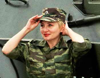 В Приамурье началась подготовка первых в российской армии женщин-танкистов. Женщины участвовали в отборе в добровольном порядке. Фото: MICHEL VIATTEAU/AFP/Getty Images
