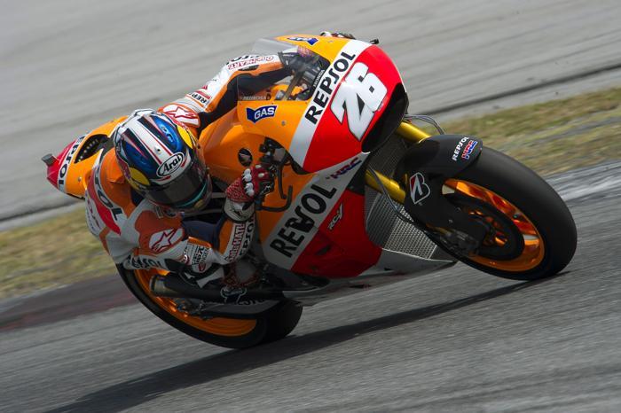 Дани Педроса в первый день тестов MotoGP в Сепанге (Малайзия) 4 февраля 2014  года. Фото: Mirco Lazzari gp/Getty Images