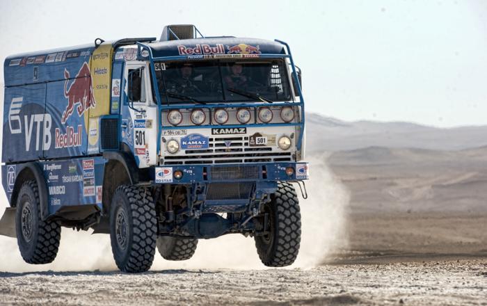 Выступление грузовиков «КАМАЗ» на ралли «Дакар—2010» в Чили. Фото: MARTIN BERNETTI/AFP/Getty Images