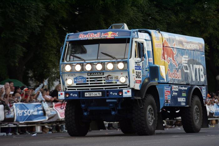 Выступление грузовиков «КАМАЗ» на ралли «Дакар—2011» в Аргентине. Фото: Maxi Failla/AFP/Getty Images