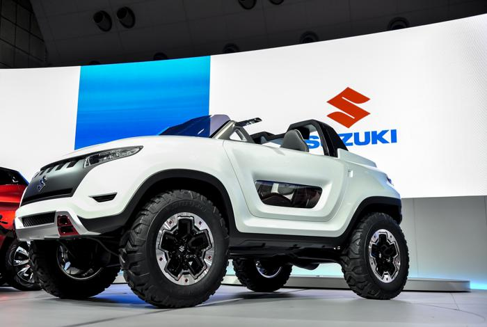 Корпорация Suzuki Motor продемонстрировала X-Lander на автосалоне в Токио 20 ноября 2013 года. Фото: Keith Tsuji/Getty Images