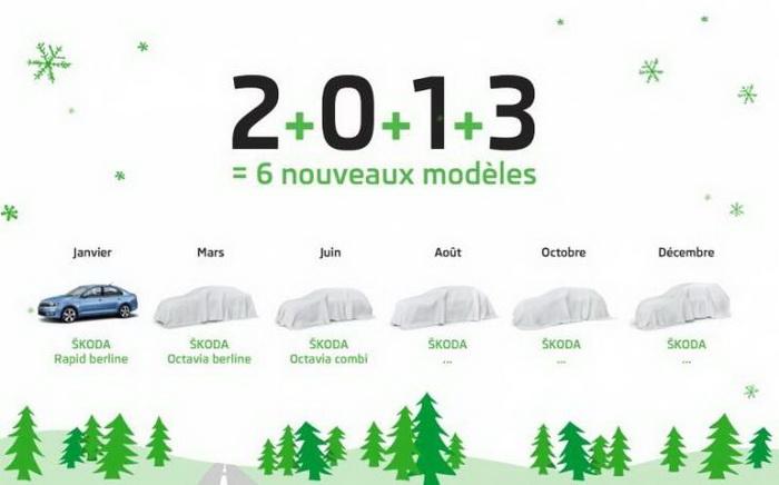 Skoda покажет шесть новых моделей в 2013 году. Фото: avtosreda.ru
