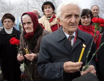 День памяти голодомора. Фото: Alexander KHUDOTEPLY/AFP/Getty Images