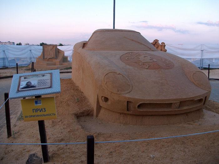 Бывают даже песчаные автомобили! Фото: Анна Скороходова