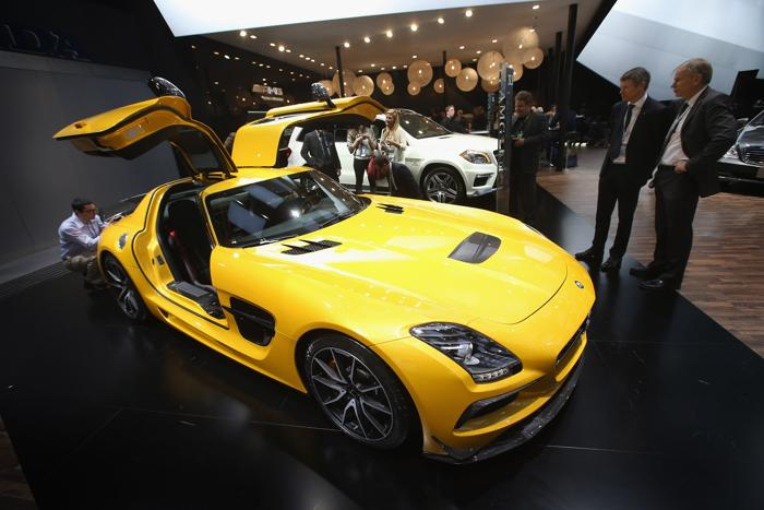 Mercedes SCG AMG Black Series на пресс-показе Североамериканскго автосалона в Детройте, 14 января 2013 года. Фото: Bill Pugliano/Getty Images