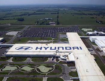 Завод Hyundai после отпуска вновь заработал. Фото с сайта hiblogger.net