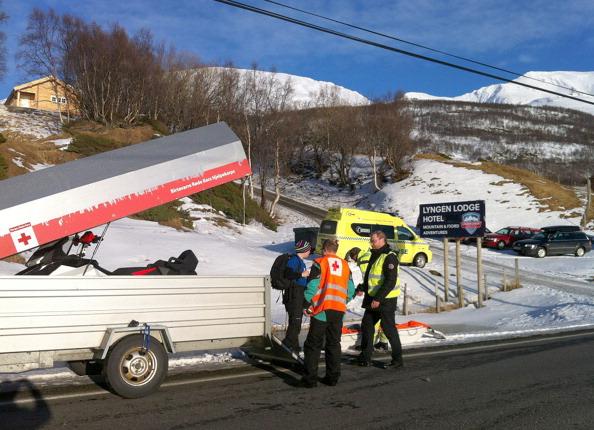Под снежной лавиной в Норвегии погибло пятеро лыжников. Фото: MARTIN LYNGDAL/AFP/Getty Images