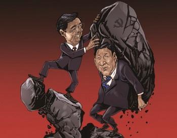 Лидер компартии Китая Ху Цзиньтао передает бремя власти вице-председателю КНР Си Цзиньпину. Фото с сайта theepochtimes.com