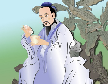 Лу Юй - чайный мудрец. Иллюстрация: Кэтрин Чан/Великая Эпоха (The Epoch Times)