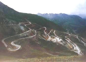 федеральная трасса номер 219 Синьцзян-Тибет. Фото: hudong.com