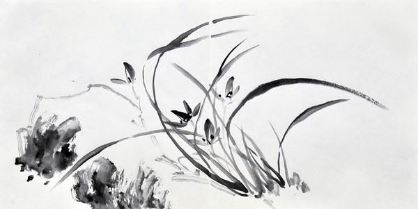 Орхидеи. Художник Жу И