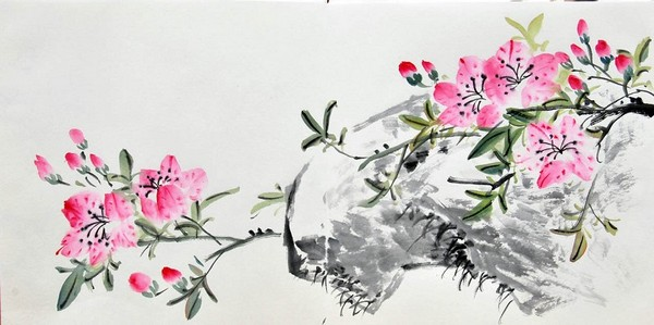 китайская живопись цветы: