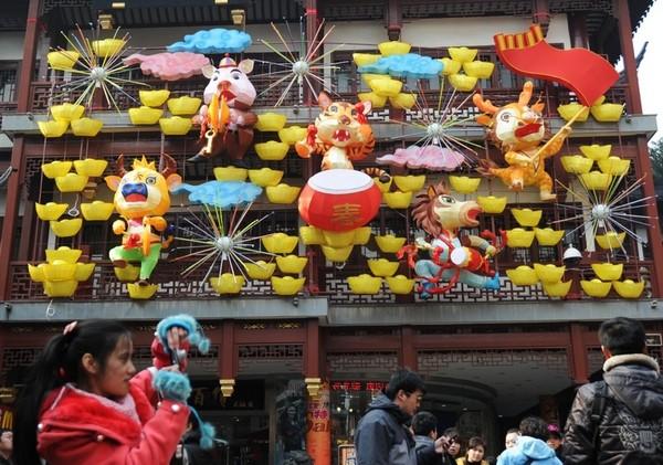 Китайский Новый год Кролика. Шанхай. Фото: ChinaFotoPress/Getty Images