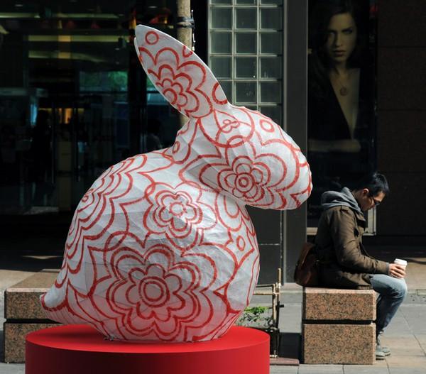 Китайский Новый год Кролика. Тайбэй (Тайвань). Фото: SAM YEH/AFP/Getty Images