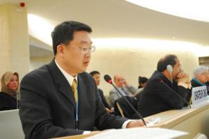 Выступление г-на Чэнь Шичжуна на заседании ООН.Фото с epochtimes.com