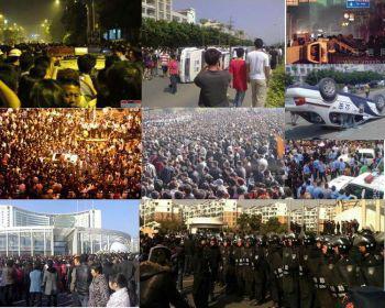 Китай протестует: в 2010 году в Китае состоялись  многочисленные массовые акции протеста, их масштабы и интенсивность намного превысили происходившие в предыдущие годы. Редакция новостей Китая Epoch Times выбрал в этой статье десять  из них. Фото с сайта epochtimes.com