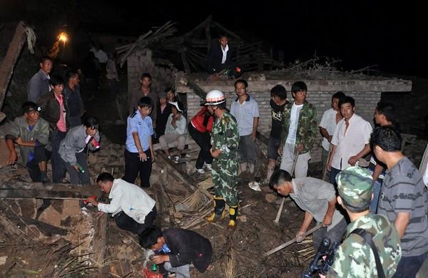 Сильный оползень произошёл в провинции Юньнань. Сентября 2010 год. Фото с epochtimes.com
