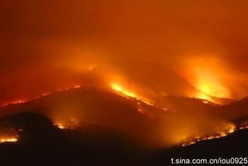 Лесной пожар, потушенный  1 марта в провинции Юньнань вспыхнул снова 3 марта. Фото с epochtimes.com