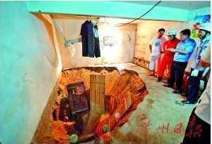В спальне, где спали пожилые супруги, образовался большой провал. Фото с epochtimes.com
