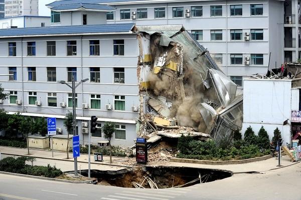 Разрушенная часть здания больницы. Провинция Шаньси. Фото с epochtimes.com