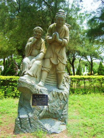 Статуя Цзэнцзы с его матерью. Фото: www.theepochtimes.com
