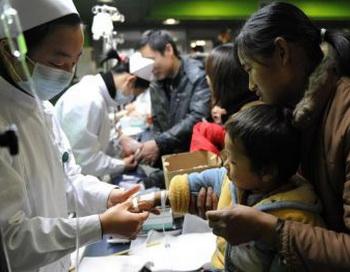 Китай.Исследование А/H1N1, проведенное  в прошлом месяце в Гуанчжоу,указывает на то что китайское правительство сильно занизило количество смертей.Фото:epochtimes.com