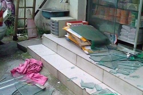Фото с места событий. В городе Нанкине произошёл взрыв на предприятии. 28 июля 2010 год. Фото с epochtimes.com