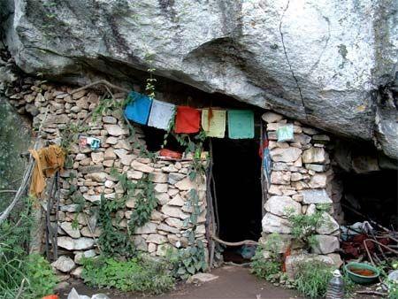 Жилище отшельников. Горы Чжуннаньшань. Фото с kanzhongguo.com