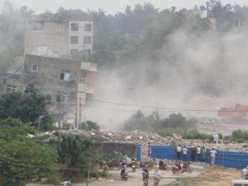 Жителям деревни Белого тигра в провинции Гуанси угрожает насильственный снос домов. Фото: Epoch Weekly