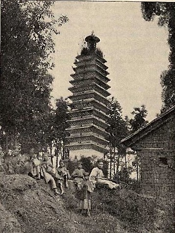 Пагода на западе Китая. Фото: Ernest Morrison