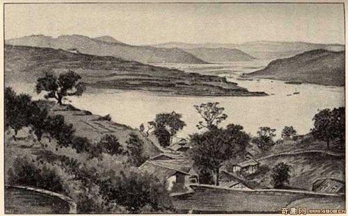 На противоположном берегу Янцзы от города Чунцина. Фото: Ernest Morrison