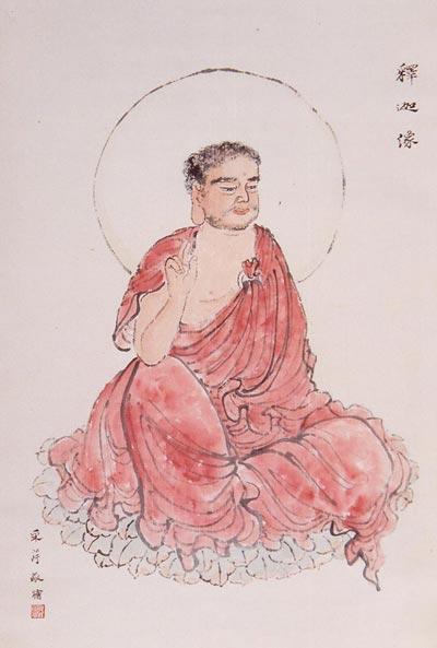 Китайская живопись. Будда Шакьямуни. Чжан Цуйин